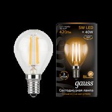 Лампа Gauss LED Black Filament G45 E14 5W 2700K