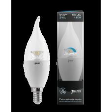 Лампа Gauss LED Black CF37 Crystal Clear E14 6W 4100К DIM