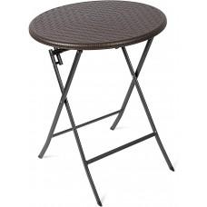 Круглый журнальный столик, HDPE пластик, коричневый, 60 x 60 x 74,5 см Vanage VG-0222