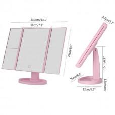 Зеркало для макияжа с LED подсветкой Superstar Magnifying Mirror розовое