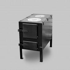 Печь буржуйка КВД-150 с чугунной варочной поверхностью